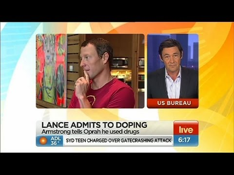 Lance Armstrong admits to doping