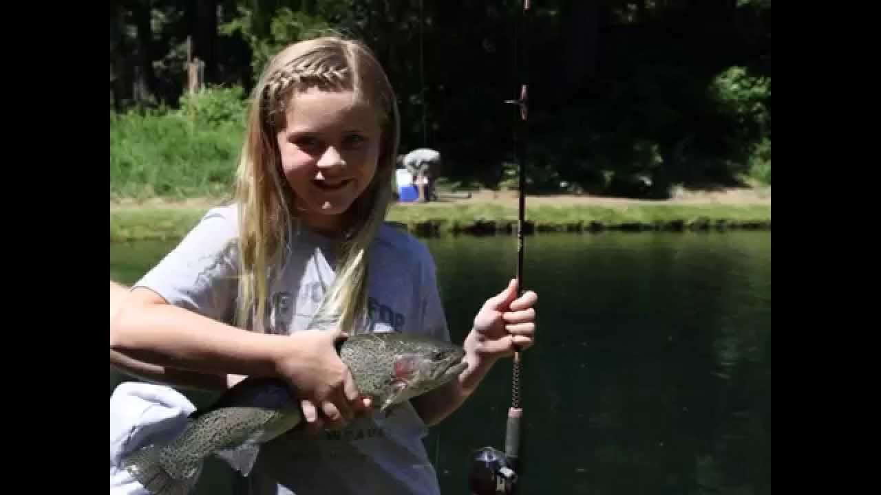 Kids fishing day and castle lake youtube for Fishing license for disabled person