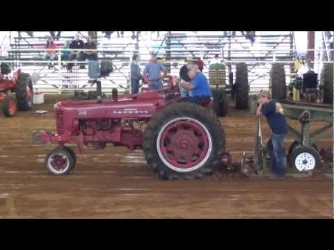 Pt. 2 of 4 Antique Tractor Pull 2012 At The White County Fair! Full Video