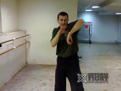 Способ перехода от защиты к атаке руками, кулачный бой