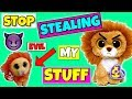 Beanie boos STOP STEALING MY STUFF annoying little brother skit