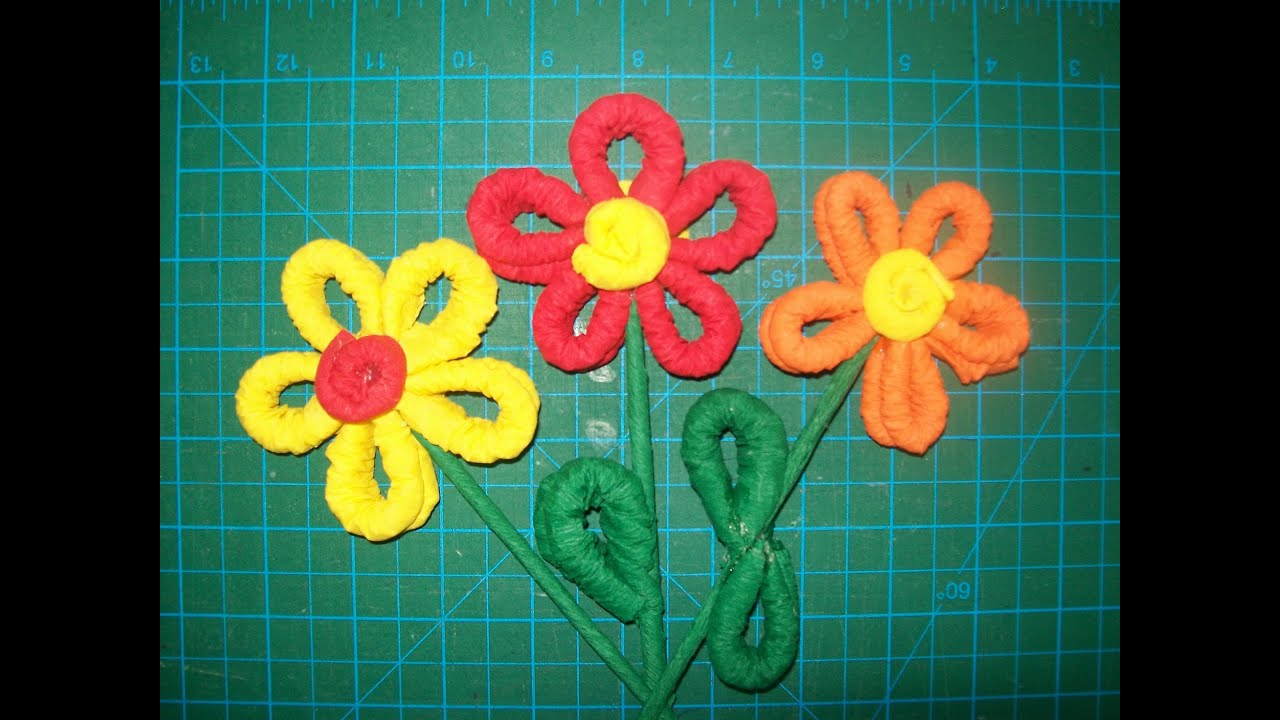 Paso a paso como hacer flor de papel crepe youtube - Como se hacen crepes dulces ...