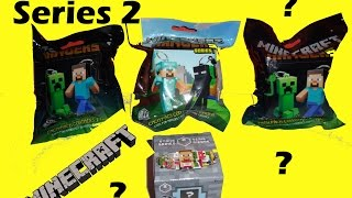 Minecraft Hangers Series 2 Blind Bags & Blind Box Mini Figures Surprise Toys Opening Unboxing