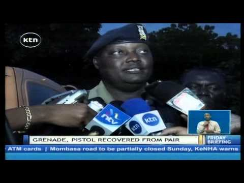 Police shoot dead and recover grenade and pistol from suspected terrorists
