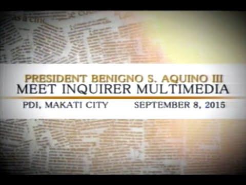 [PTV] President Benigno S. Aquino III - MEET INQUIRER MULTIMEDIA -- [Sept. 08, 2015]