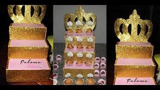 DIY: Como Fazer Escadinha Para Doces (Cupcake)
