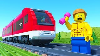 LEGO Train Gym Fail