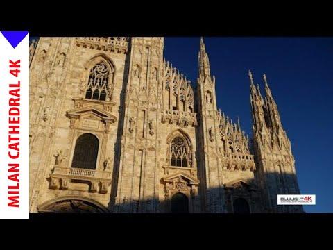 Duomo Milan at sunset 4K -  New Version!