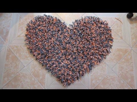 Alfombra decorativa en forma de corazón