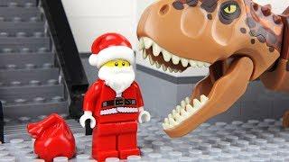 Lego Santa Claus Dinosaur Attack