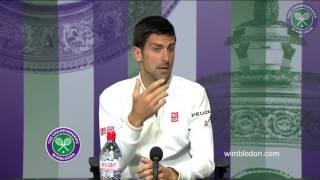 Novak Djokovic second round press conference
