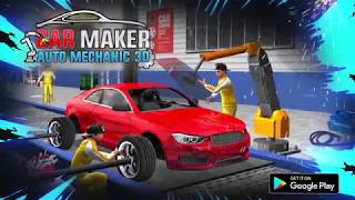 Sports Car Maker Factory: Auto Car Mechanic Games New Android Gameplay