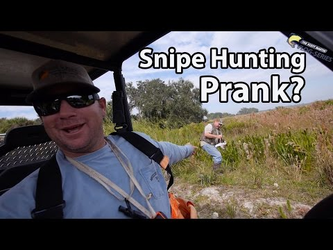 Real or a Prank? Snipe Hunting through a swamp with 12 gauge Shotguns