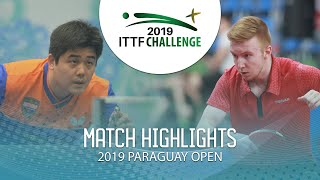 Cazuo Matsumoto vs Florent Lambiet | 2019 ITTF Paraguay Open Highlights (R32)