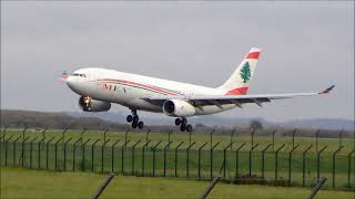 Airbus A330-200 MEA Airlines landing at Paris Roissy Charles de Gaulle Airport