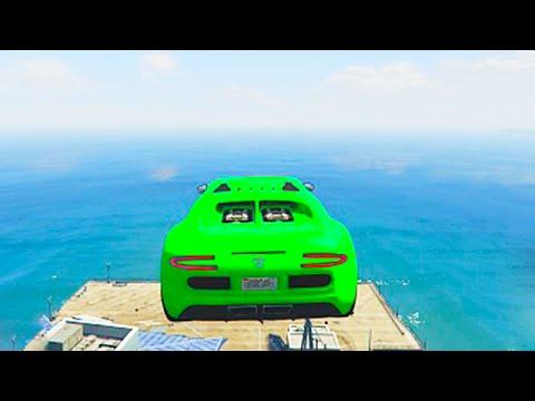 WORLDS HARDEST OCEAN JUMP! (GTA 5 Funny Moments)