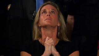 Trump honors widow of fallen Navy SEAL