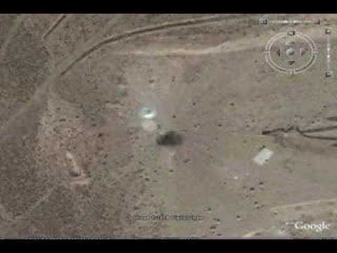Google Earth - REAL UFO Proof, Near Area 51