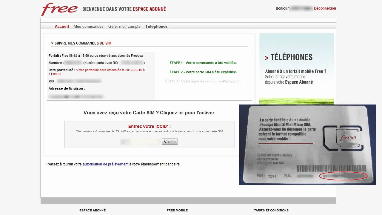 Activer la carte SIM Free Mobile - YouTube