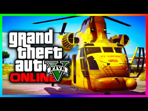 GTA 5 Online Rare Unobtainable Vehicles Job - GOLD Cargobob, Jumbo Jet...