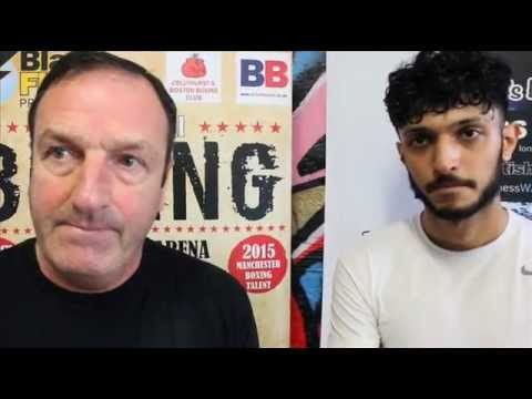 Joe Pennington with his boxer Billy 'The Kid' Rehman