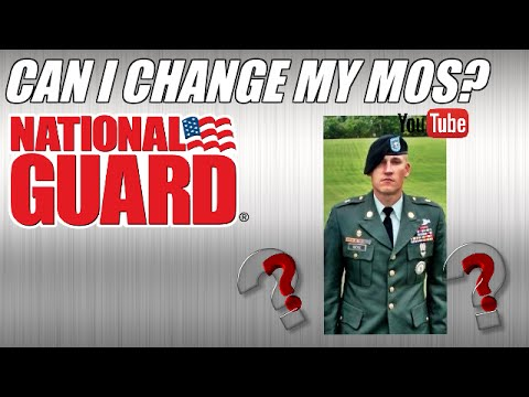 Can I Change my MOS? National Guard.