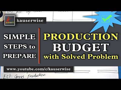Easy steps to prepare||Production budget||Normal Loss in Production||Solved problem||by kauserwise