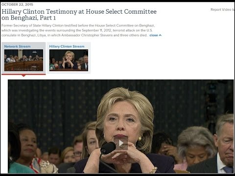 Hillary Clinton Testimony at House Select Committee on Benghazi Part 1