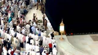 Sheikh Shuraim coming in to lead Fajr Salah