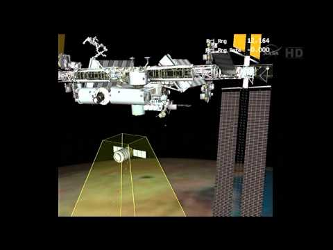 Orbital Sciences Cygnus Orb-1 Is Grappled By ISS Robotic Arm