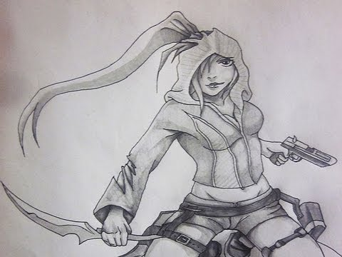 Girl Assassin Drawings Girl Assassin Character