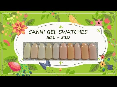 Canni Gel Paint Swatches 501- 510