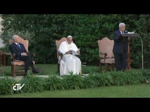 Papa Francisco, Peres, Abbas e Bartolomeu -- no Vaticano rezaram pela paz -08/06/2014