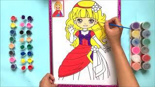ĐỒ CHƠI TÔ MÀU NƯỚC CÔNG CHÚA BÁ TƯỚC XINH ĐẸP, Coloring Princess So Beautiful (Chim Xinh)