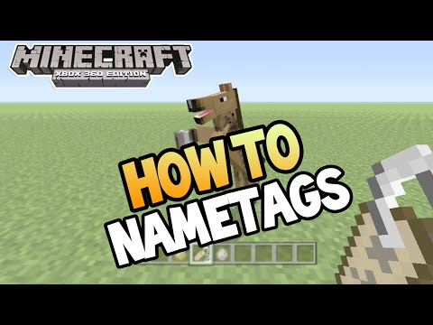 Minecraft Xbox 360 PS3 TU19 UPDATE HOW TO USE NAMETAGS TUTORIAL Guide