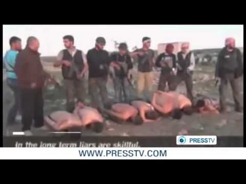SYRIA Gruesome Video Of Jihadist Rebels Executing Seven Captured Soldiers In Idlib Province