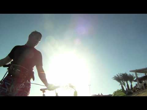Kitesurfing in Hurghada, Egypt with Spleene SPX and QX kites