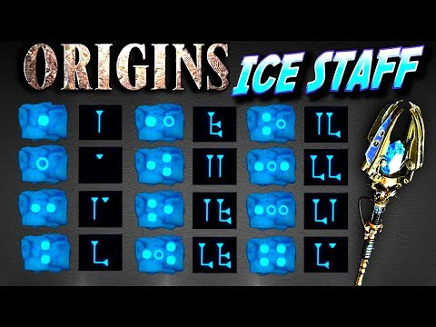 Ice Staff ORIGINS Zombies HOW TO BUILD AND UPGRADE TUTORIAL Ulls Arrow YouTube