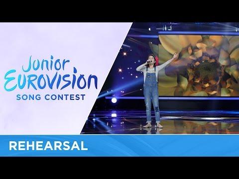 Mariam Mamadashvili - Mzeo (Georgia) - First Rehearsal - Junior Eurovision 2016