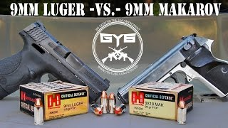 9x18mm Makarov -VS- 9x19mm Luger [GY6 Ballistic Test #15]