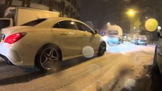İstanbulda araçların karla imtihanı