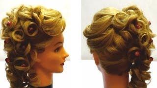 Видеоурок прическа на выпускной на тонкие длинные волосы