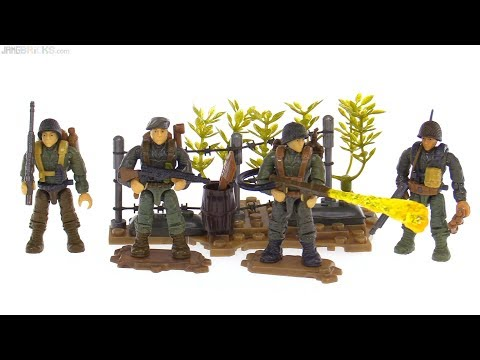 Mega Construx Call of Duty WWII Flamethrower Shock Troopers review