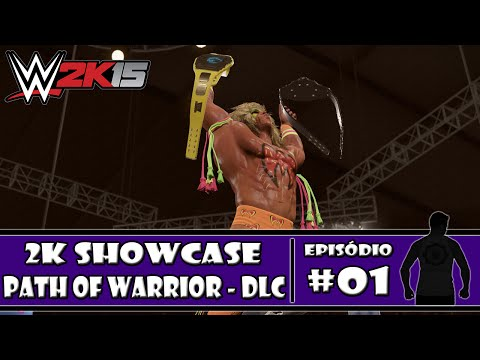 WWE 2K15 (PS4) - 2K Showcase DLC: Path of Warrior - #01 - PT-BR