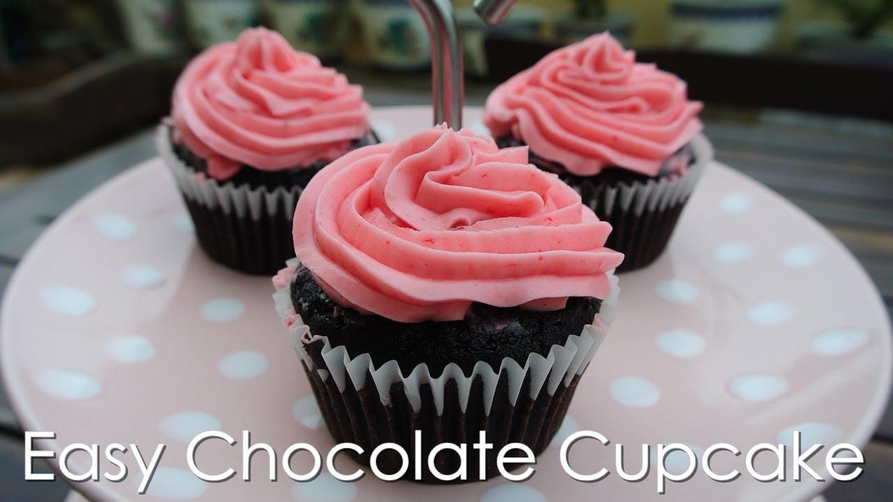 Chocolate Cupcakes Recipe Easy Easy Chocolate Cupcake