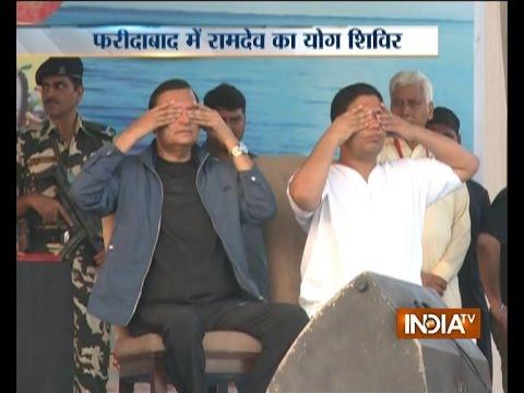IndiaTV Chairman Mr Rajat Sharma Attends Baba Ramdev's Yog Shivir