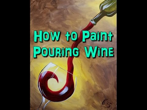 How to Paint Red Wine - Step by Step Acrylic Painting on Canvas for Beginners
