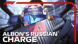 Alexander Albon's Charge Through The Field | 2019 Russian Grand Prix
