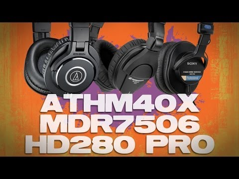 Audio-Technica ATH-M40x vs Sony MDR7506 vs Sennheiser HD280 Best $100 Headphone Review