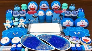Series BLUE DORAEMON Slime ! Mixing Random Things into GLOSSY Slime! Satisfying Slime Videos #507